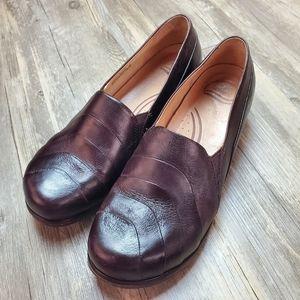 Dansko Pia Brown Leather Slip On Clogs - Size 42